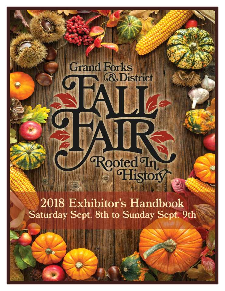 GF Fall Fair 2018 Exhibitors Handbook