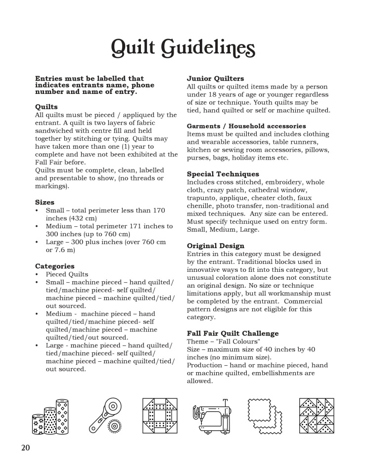 Quilt Guidelines