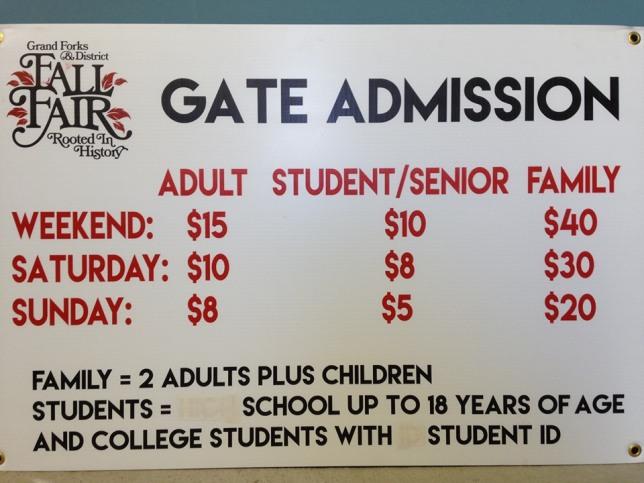 2019 gate admission